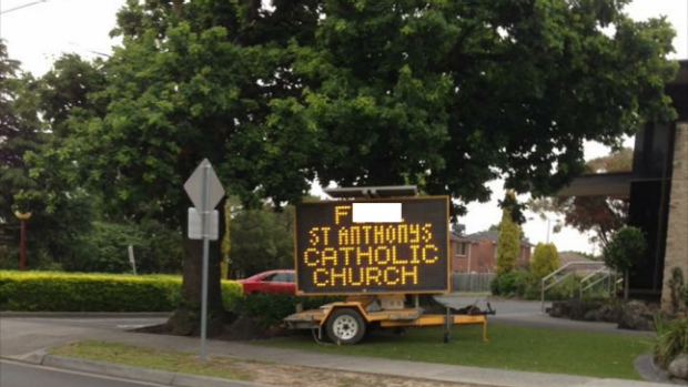 Article image for Rumour File: F-bomb in electronic church sign