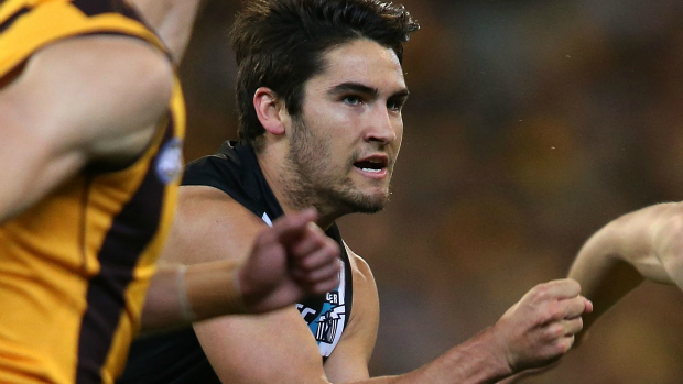 Article image for Power star Chad Wingard finally home after being stranded in Bali