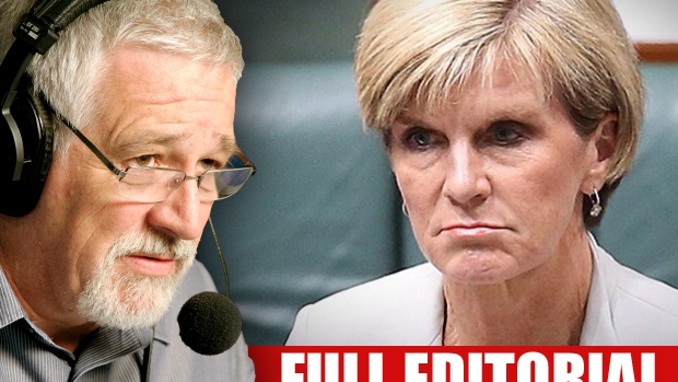 Article image for WHACK! Neil Mitchell takes aim at Julie Bishop over Canberra-Perth flight