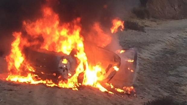 Article image for Car fire on Mt Martha beach