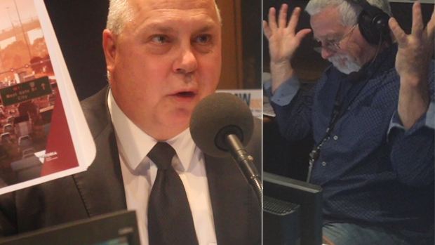 Article image for East-West debacle: Jump in the studio for Neil Mitchell v Tim Pallas