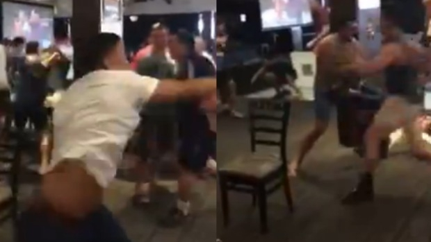 Article image for Brawl at Ringwood's Manhattan Hotel during UFC fight