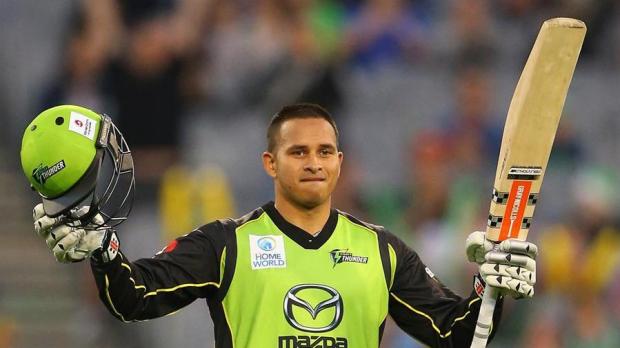 Article image for Usman Khawaja has ton of fun as Stars left Thunderstruck