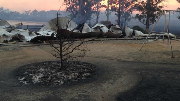 Article image for Scotsburn family overwhelmed by support after losing home to bushfire