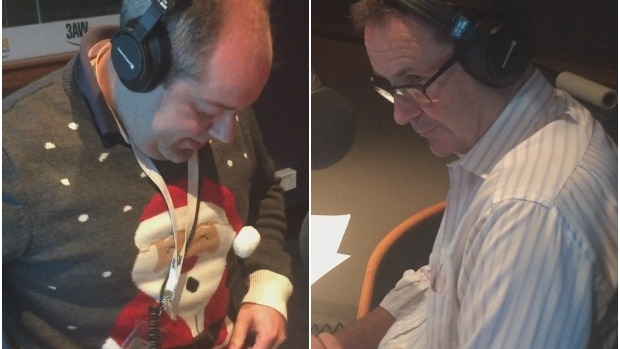 Article image for Tony Jones takes Shane McInnes to task over very average Christmas jumper