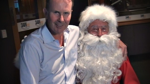 Article image for The CUTEST! Santa answers kids' questions on 3AW with Tony Jones