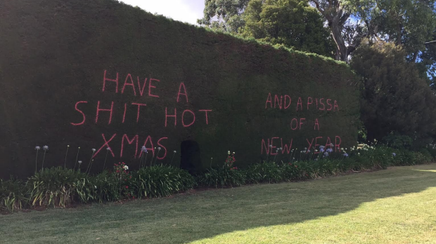 Article image for Only in Australia: Neerim South hedge message full of mirth