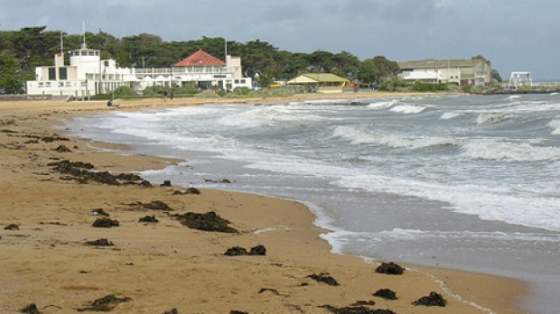 Article image for 'Amazing Ben' saves swimmers stuck in Williamstown beach rip
