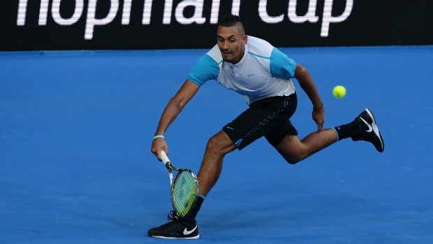 Article image for Nick Kyrgios fires up again