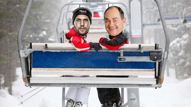 Article image for How Buddy Franklin came up during Burnso's Italian chairlift