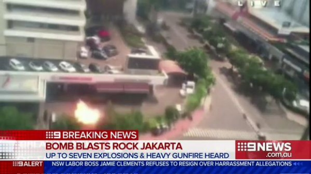 Article image for Explosions rock Jakarta shopping mall