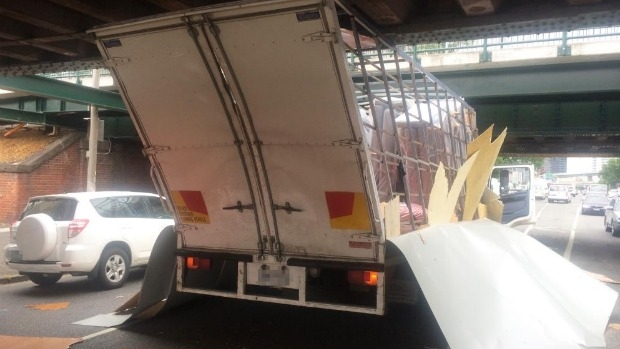 Article image for How to stop trucks from getting stuck under the Montague Street bridge