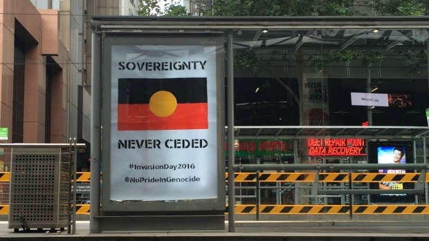 Article image for Neil Mitchell hits out at 'offensive' invasion day posters, graffiti on Australia Day