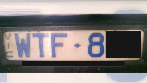 Article image for WTF: Number plate too rude?