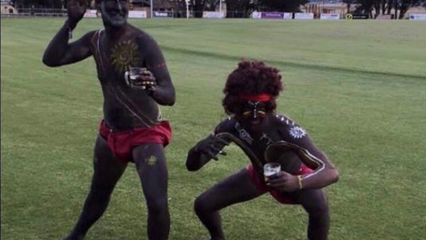 Article image for Ballarat men spark outrage after dressing up as indigenous Australians