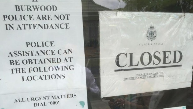 Article image for Closed sign on Burwood police station