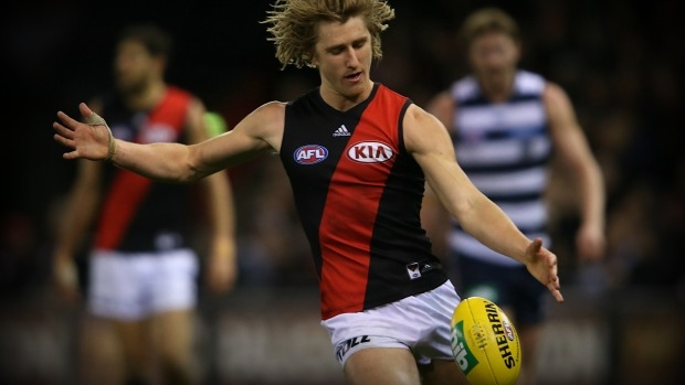 Article image for Dyson Heppell tweet and appearance at Essendon Kia raises eyebrows