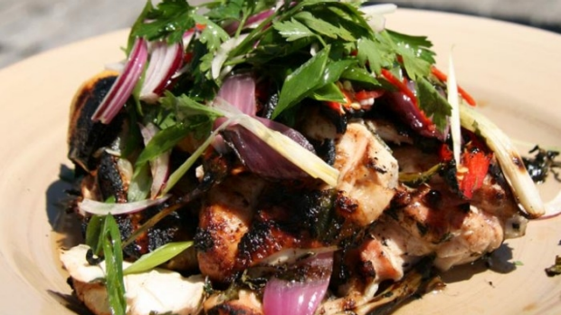 Article image for Recipe: Tobie Puttock's BBQ Chicken with Marjoram, Chilli and Lemon