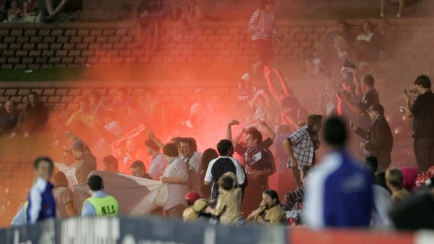 Article image for A-League clubs want to help stop flares, says cop in charge