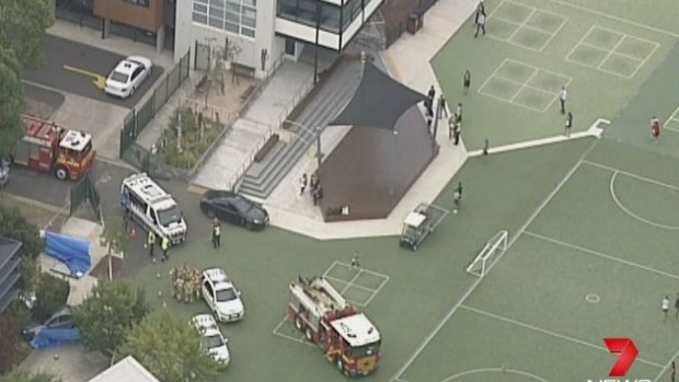 Article image for Person dies after car plows through school fence at Brighton East