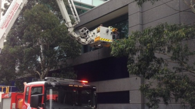 Article image for Mystery surrounds man rescued from Docklands ledge