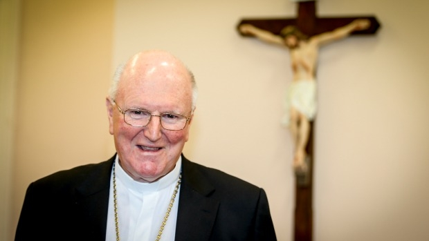 Article image for Archbishop Denis Hart appalled by 'outrageous' Tim Minchin song about George Pell