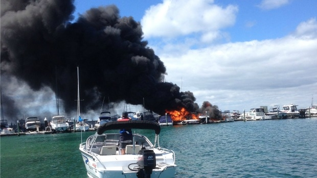 Article image for PICTURES: Blairgowrie marina fire