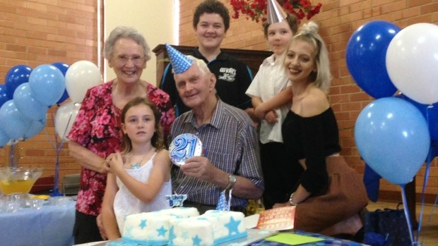 Article image for Ian Bish, 84, celebrates his '21st' birthday