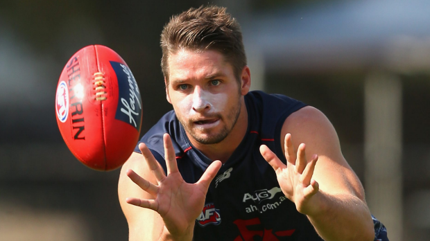 Article image for Key forward Jesse Hogan signs contract extension with Melbourne