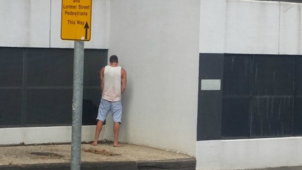 Article image for Man 'busted' urinating on Victoria Police complex on Flinders St