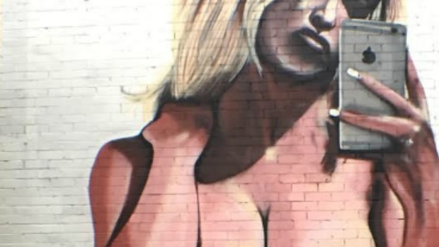 Article image for Mural painting of Kim Kardashian naked selfie in Cremorne, Melbourne