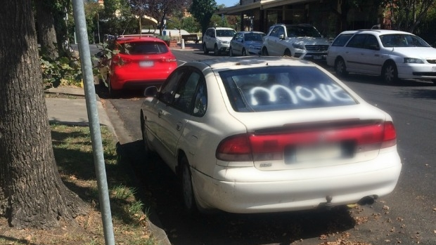 Article image for Mexican standoff over car in Burnso's street