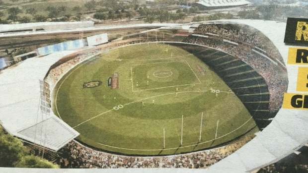 Article image for Richmond proposes 40,000-seat upgrade for Punt Road Oval