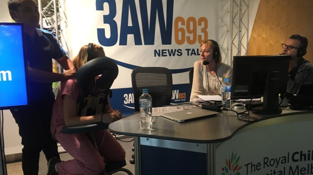Article image for A nurse's life at RCH: 3AW Breakfast shouts Amy van der Velden a massage