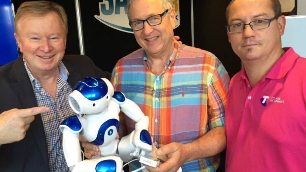 Article image for Denis Walter and the dancing robot NAO at the Good Friday Appeal