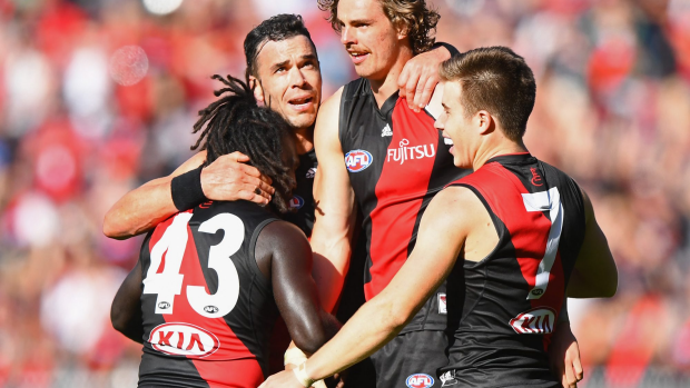 Article image for Joe Daniher happy to renew contract with Essendon