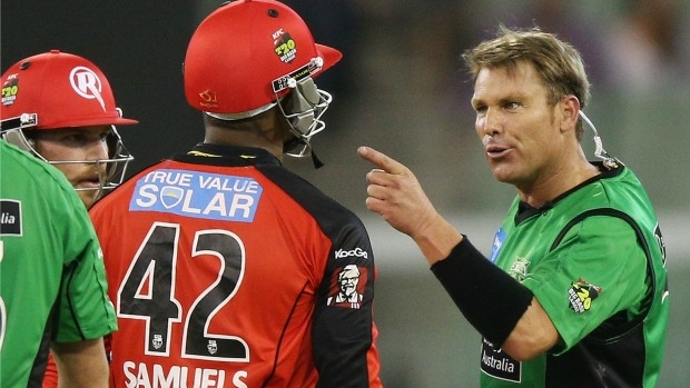 Article image for Marlon Samuels tees off at Shane Warne after T20 victory