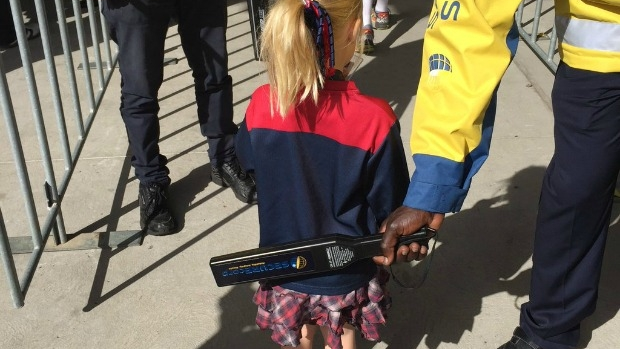 Article image for Four-year-old girl scanned by security at the MCG
