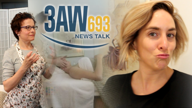 Article image for 3AW Senior Producer Katie Dower gets a french facial from Christine Clais