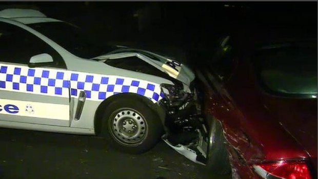 Article image for Police car rammed at Langwarrin