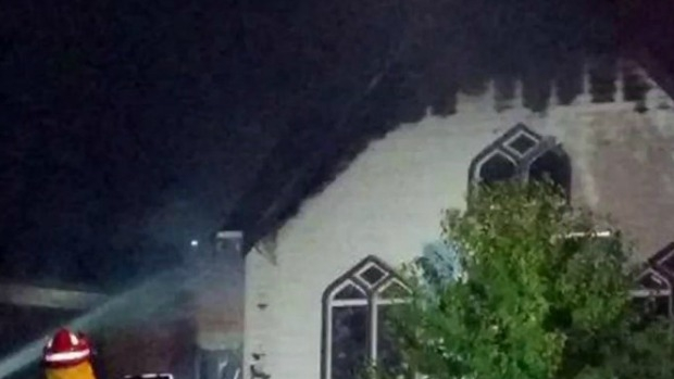 Article image for Geelong West Presbyterian Church destroyed by fire