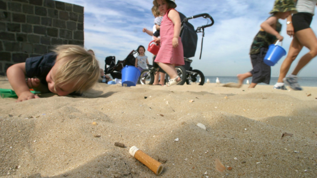 Article image for This Mordialloc man is on a quest to clear the beach of cigarette butts