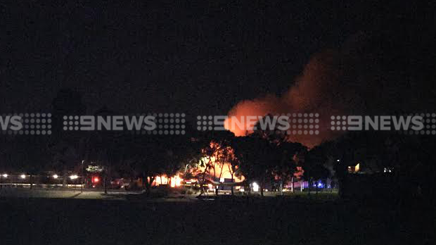 Article image for Large fire destroys classrooms the Wesley College campus at Glen Waverley