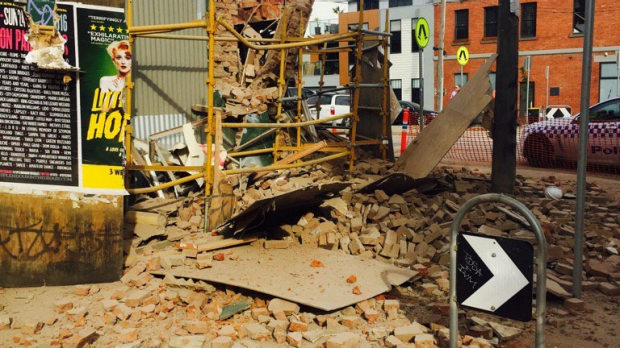 Article image for North Melbourne building site collapses after CFMEU shuts it down