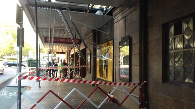Article image for Worker falls through awning at Her Majesty's Theatre