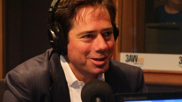 Article image for AFL boss Gillon McLachlan in studio with Neil Mitchell, April 29