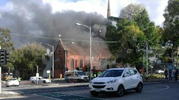 Article image for Greek Orthodox church fire in East Melbourne suspicious