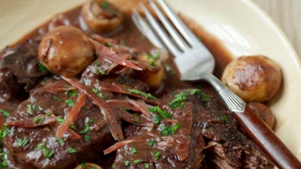 Article image for Tobie Puttock's recipe for beef braised in red wine