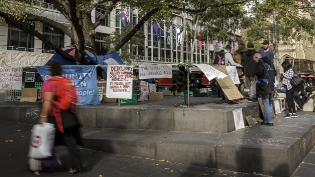 Article image for Homeless group protest at City Square
