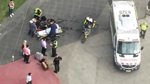 Article image for Update: Street performer catches fire during safety inspection of her show